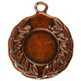 Medalla de bronce vieja Imagen de archivo libre de regalías