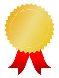 Medalla de la concesión del oro Imágenes de archivo libres de regalías