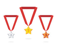 Medalla de la estrella Imagenes de archivo