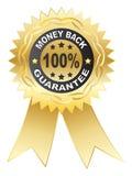 Medalla de la GARANTÍA del 100% Imagen de archivo libre de regalías