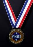 Medalla de los ganadores foto de archivo