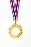 Medalla de oro con su propia insignia o texto Foto de archivo libre de regalías