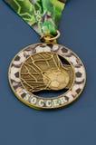 Medalla de oro de la campaña del fútbol Foto de archivo