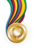 Medalla de oro de los juegos de las Olimpiadas Foto de archivo libre de regalías