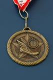 Medalla de oro del atletismo Imagen de archivo