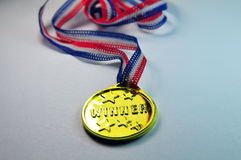 Medalla de oro del ganador Imagen de archivo