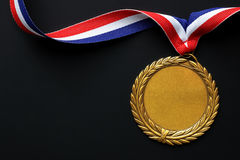 Medalla de oro olímpico Imagen de archivo libre de regalías