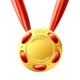 Medalla de oro. Vector. Fotos de archivo libres de regalías
