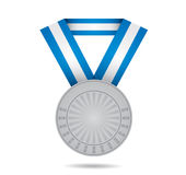 Medalla de plata del deporte Fotos de archivo