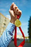 Medalla del campeón Imagen de archivo libre de regalías