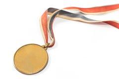 Medalla del deporte del oro del vintage Foto de archivo libre de regalías