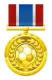 Medalla del fútbol del fútbol Foto de archivo libre de regalías