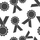 Medalla del icono del vector Medalla de honor, modelo incons?til de la enhorabuena en un fondo blanco ilustración del vector