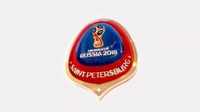Medalla 2018 del logotipo del símbolo de Rusia de la ciudad anfitriona de St Petersburg stock de ilustración