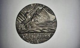 Medalla del Lusitania (frente) Fotografía de archivo libre de regalías