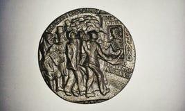 Medalla del Lusitania (trasera) Imagen de archivo