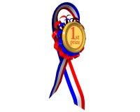 Medalla del primer premio girada Fotografía de archivo