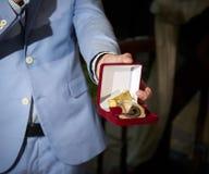 Medalla del recuerdo para casado nuevamente Fotografía de archivo libre de regalías