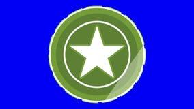 Medalla o moneda verde de la estrella libre illustration