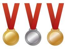 Medallas de la concesión Fotos de archivo libres de regalías