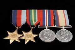 Medallas de la guerra Imagenes de archivo