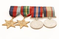 Medallas de la guerra Fotos de archivo