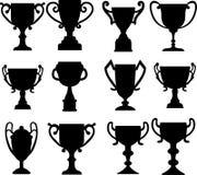 Medallas de la taza de campeón fijadas Imagen de archivo
