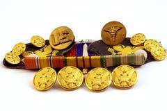 Medallas del ejército Imagenes de archivo