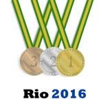 Medallas del ganador Imagenes de archivo