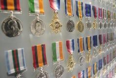 Medallas del honor en la capilla de la conmemoración Fotografía de archivo