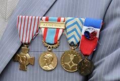 Medallas militares Imagen de archivo libre de regalías