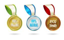 Medallas orgánicas Imagenes de archivo