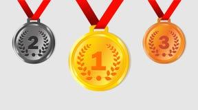 Medallas que ganan Stock de ilustración