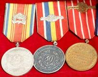Medallas rumanas Fotografía de archivo libre de regalías