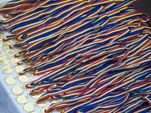 Medallas rumanas Foto de archivo libre de regalías