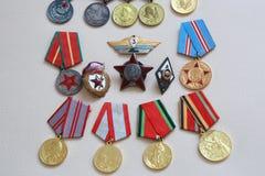 Medallas URSS Foto de archivo libre de regalías