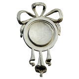 Medallion with a bow Stock Photo