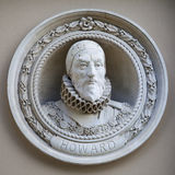 Medallion Bust of Charles Howard in Greenwich Stock Photos