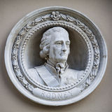Medallion Bust of George Brydges Rodney in Greenwich Stock Photography