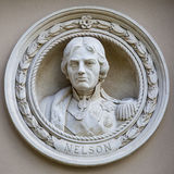 Medallion Bust of Horatio Nelson in Greenwich Royalty Free Stock Photography