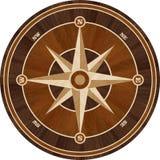 Medallion design parquet floor, compass rose. Wooden seamless texture for 3D interior vector illustration