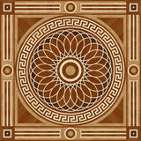 Medallion design parquet floor, wooden seamless texture Stock Image