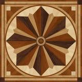 Medallion design parquet floor, wooden texture Stock Image