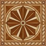 Medallion design parquet floor, wooden texture Royalty Free Stock Photo