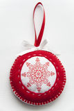 Medallion from a fabric Stock Photo