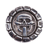 Medallion fragments from the Mayan calendar Stock Image