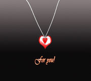 Medallion heart special for you. Gift for you, An lovely medallion heart special for you Stock Images