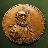 Medallion Henri IV le Grand with Marie de Medici Stock Photography