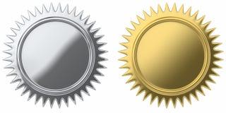 Medallion set Royalty Free Stock Photos