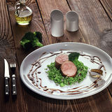 Medallions of pork tenderloin. stock photo